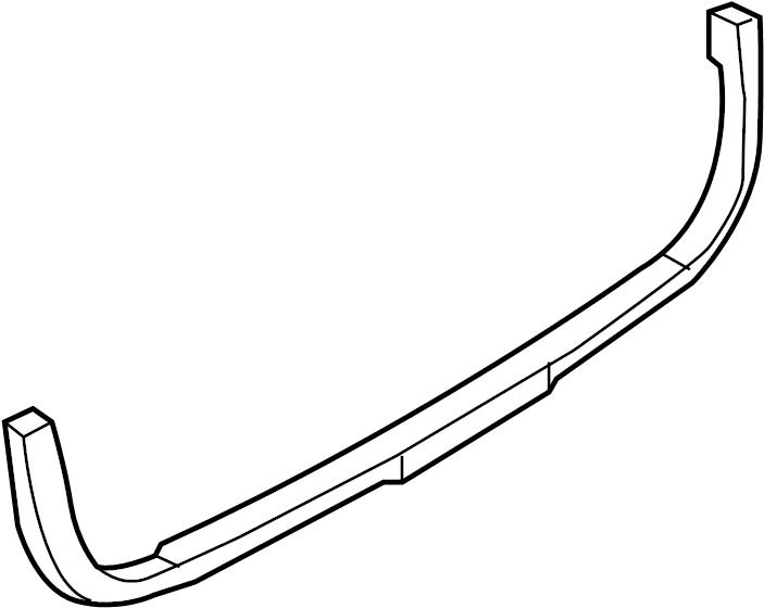 Volkswagen Passat Bumper Cover Support Rail (Lower). WAGON
