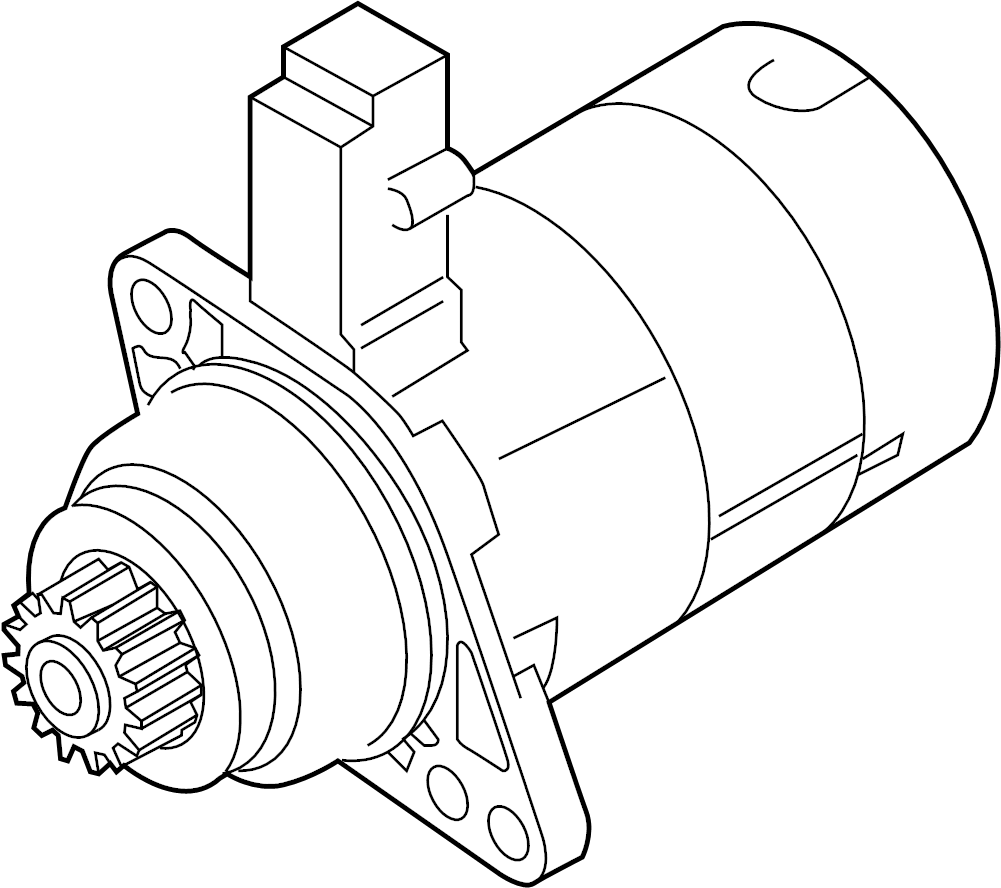 Volkswagen Passat Starter Motor. LITER, Remanufactured