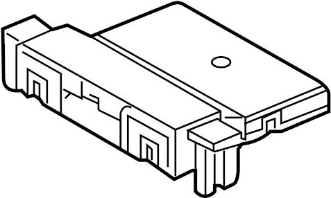 Volkswagen Passat Fuse Box Connector. PASSENGER