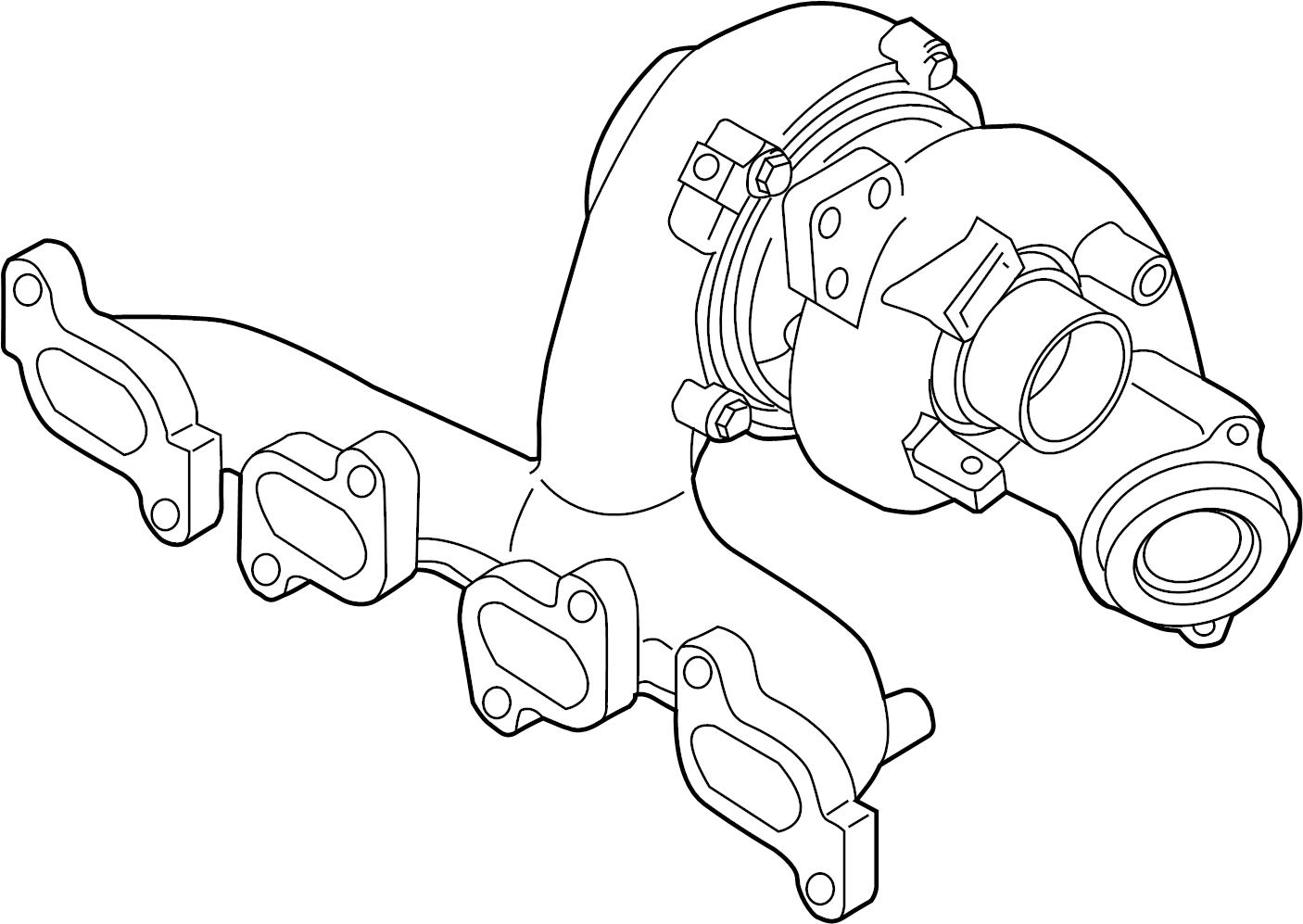 Volkswagen Passat Exhaust Manifold Exmanturbo Part