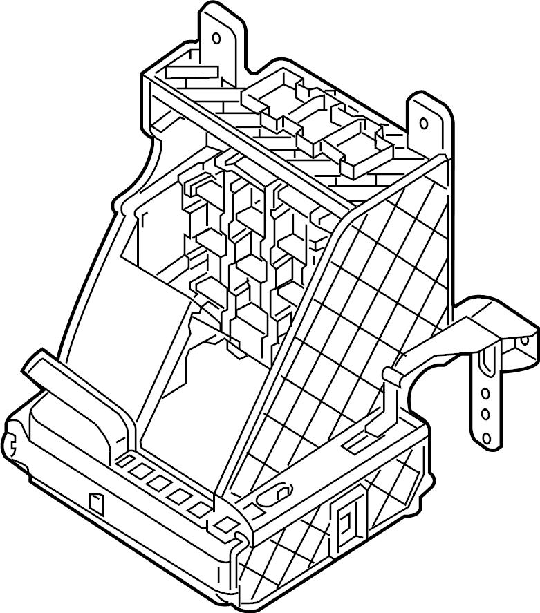 Volkswagen Passat Fuse Box Bracket. PASSENGER COMPARTMENT