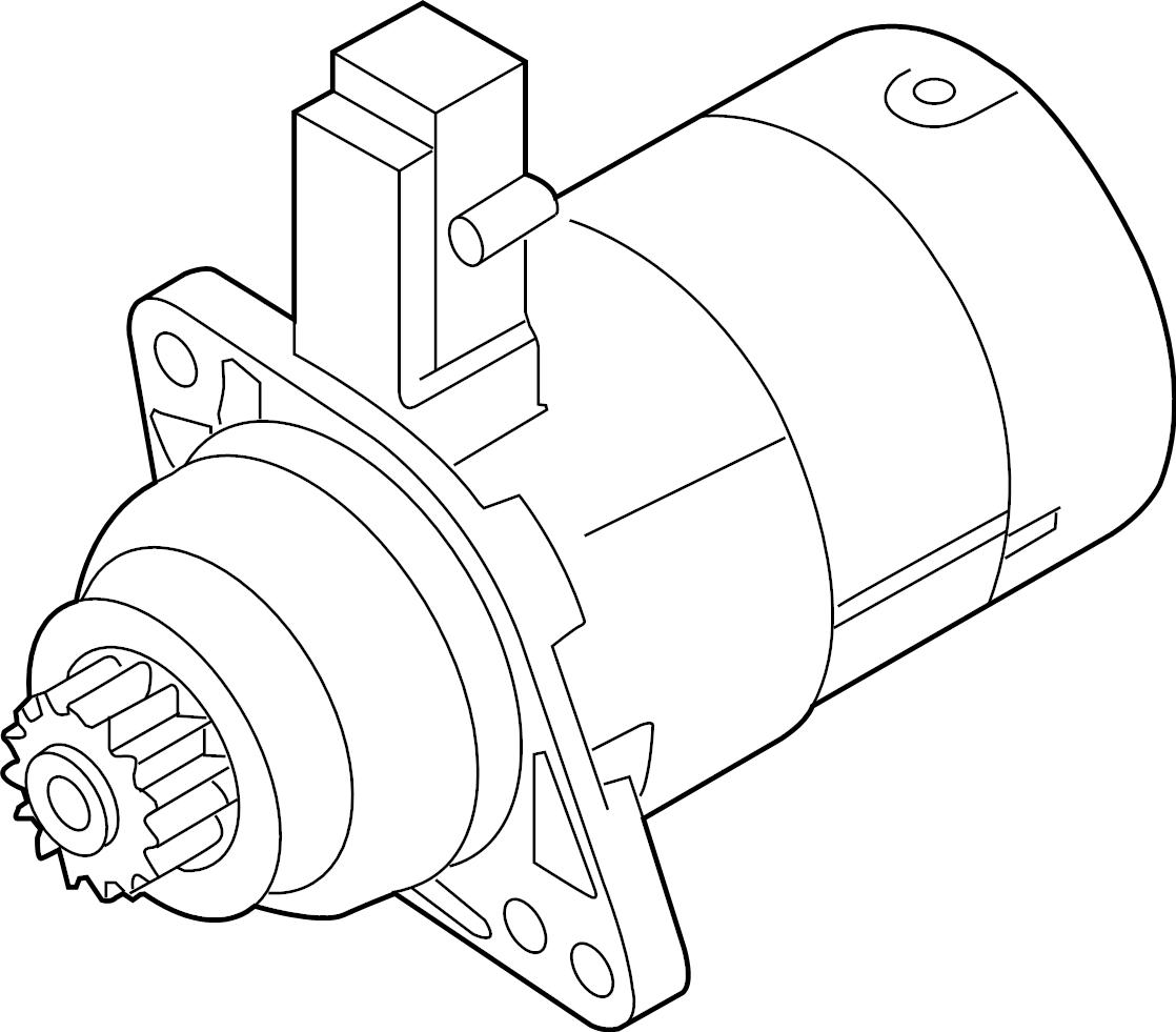 Volkswagen Jetta Starter Motor. Bosch, Auto, Trans