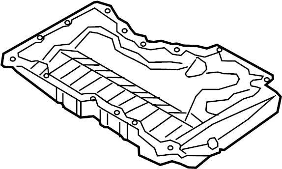 Volkswagen Jetta Powertrain Skid Plate. Cover, Lower