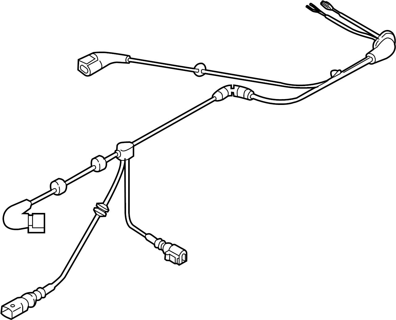Volkswagen Alltrack Abs wheel speed sensor wiring harness