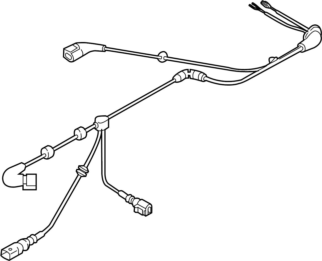 Volkswagen GTI Abs wheel speed sensor wiring harness