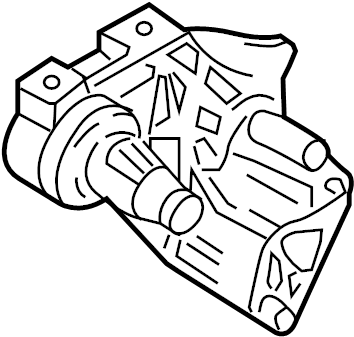 Volkswagen Beetle Engine Mount Bracket. Manual