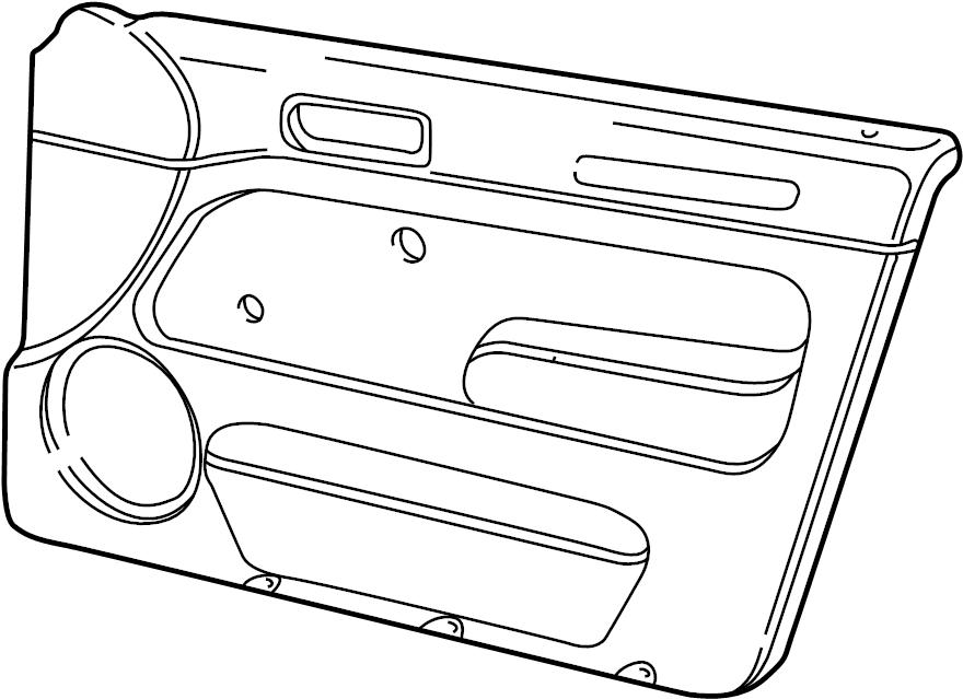Volkswagen Jetta Door Interior Trim Panel. SEDAN, GL, w