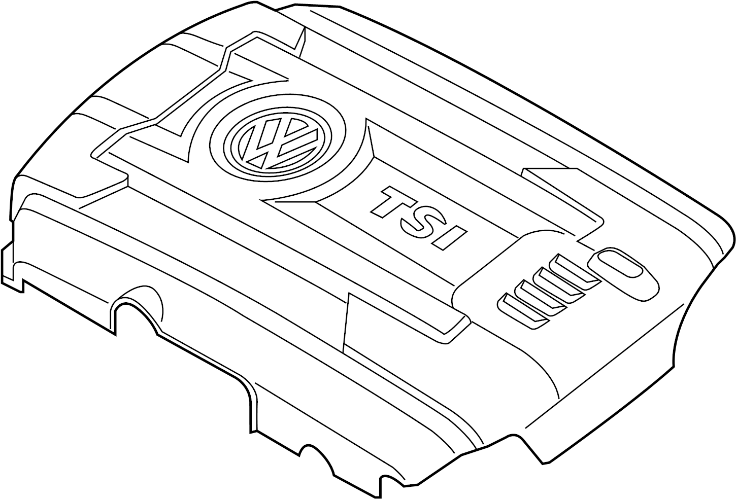 Volkswagen Jetta GLI Engine Cover. 2.0 LITER, from 05/12