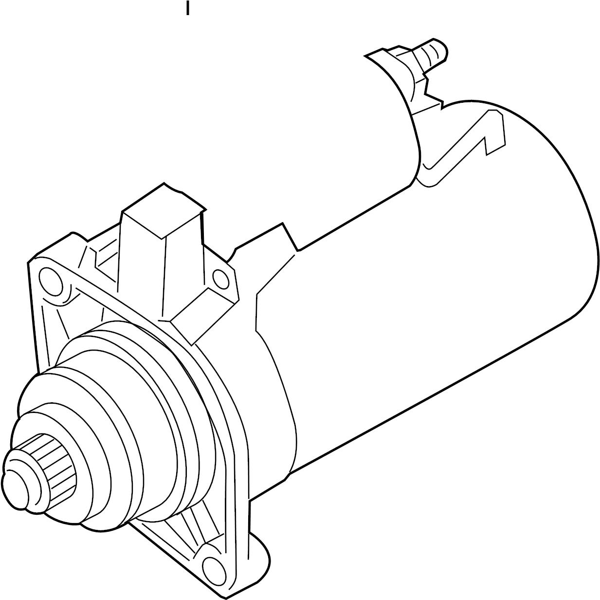 Volkswagen Jetta Starter Motor. Manual, Trans, Bosch