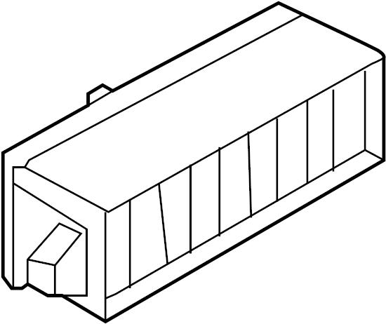 Volkswagen Jetta GLI Fuse box main. Holder. PASSENGER