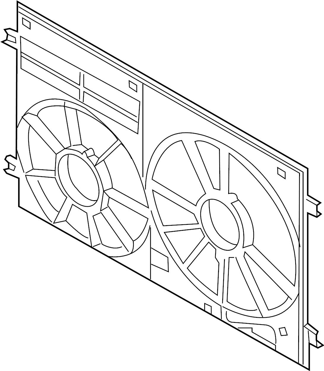 Volkswagen Jetta GLI Engine Cooling Fan Shroud. LITER