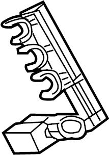 Volkswagen Routan Spark Plug Wire Holder. 3.8 LITER