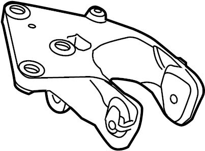 Volkswagen Routan Engine Mount Bracket (Rear). 3.8 LITER
