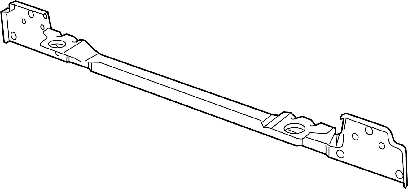 Volkswagen Tiguan Radiator Support Tie Bar. Left, Upper