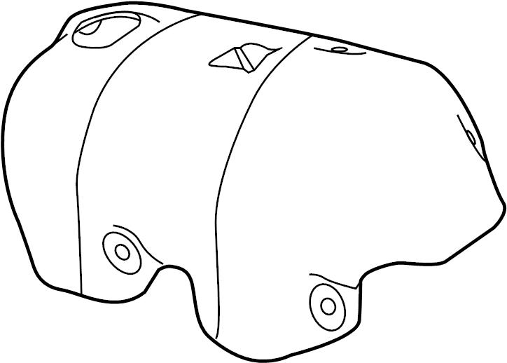 Volkswagen Tiguan Turbocharger Mount Heat Shield. ENGINE