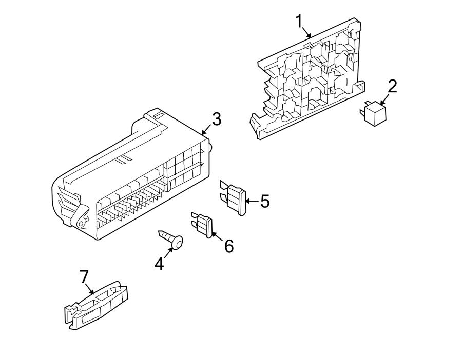 Volkswagen Tiguan Relay Box. PASSENGER COMPARTMENT