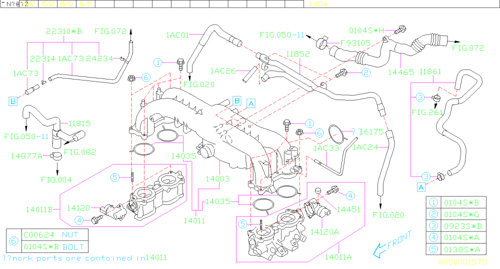 medium resolution of 2005 2006 lgt colored vacuum routing diagram page 2 subaru 2005 subaru legacy turbo vacuum diagram
