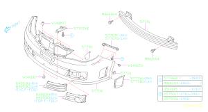 57707FG040  Bracketbumper, front lower Body  Genuine Subaru Part