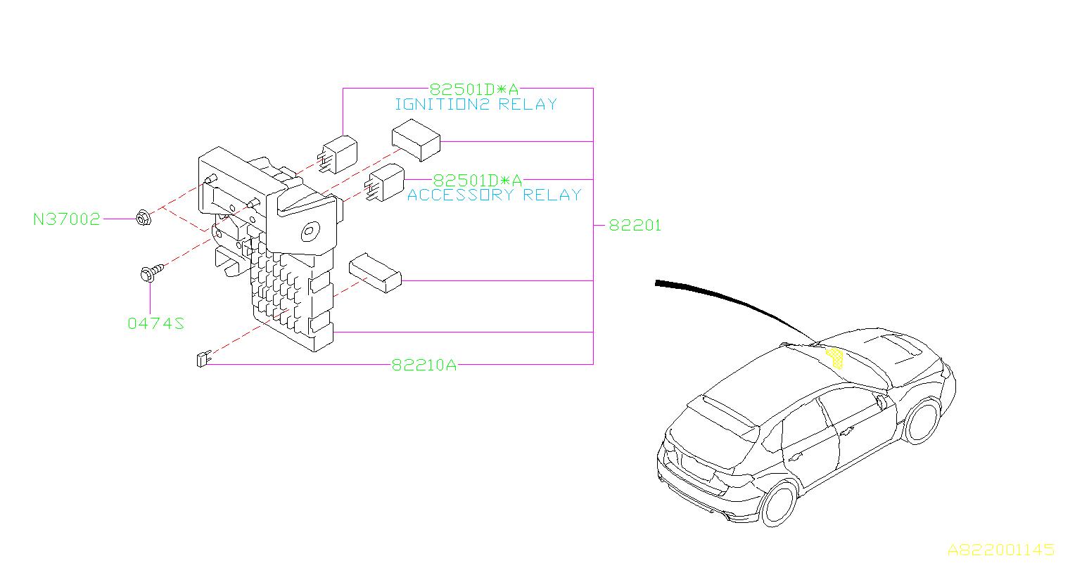 Subaru Legacy Relay Box Fuse Main