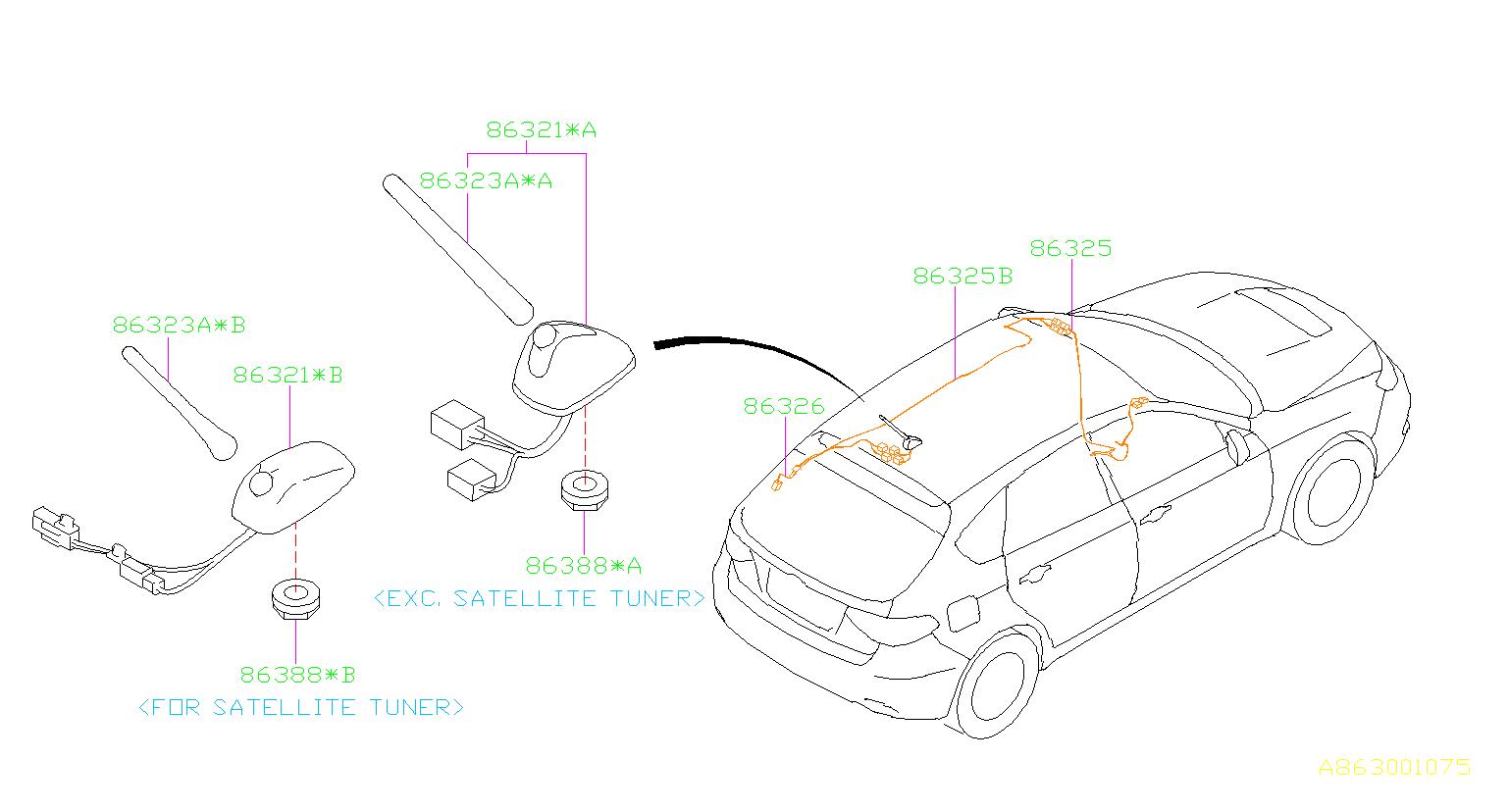 2009 Subaru Impreza Antenna assembly-radio. Electrical