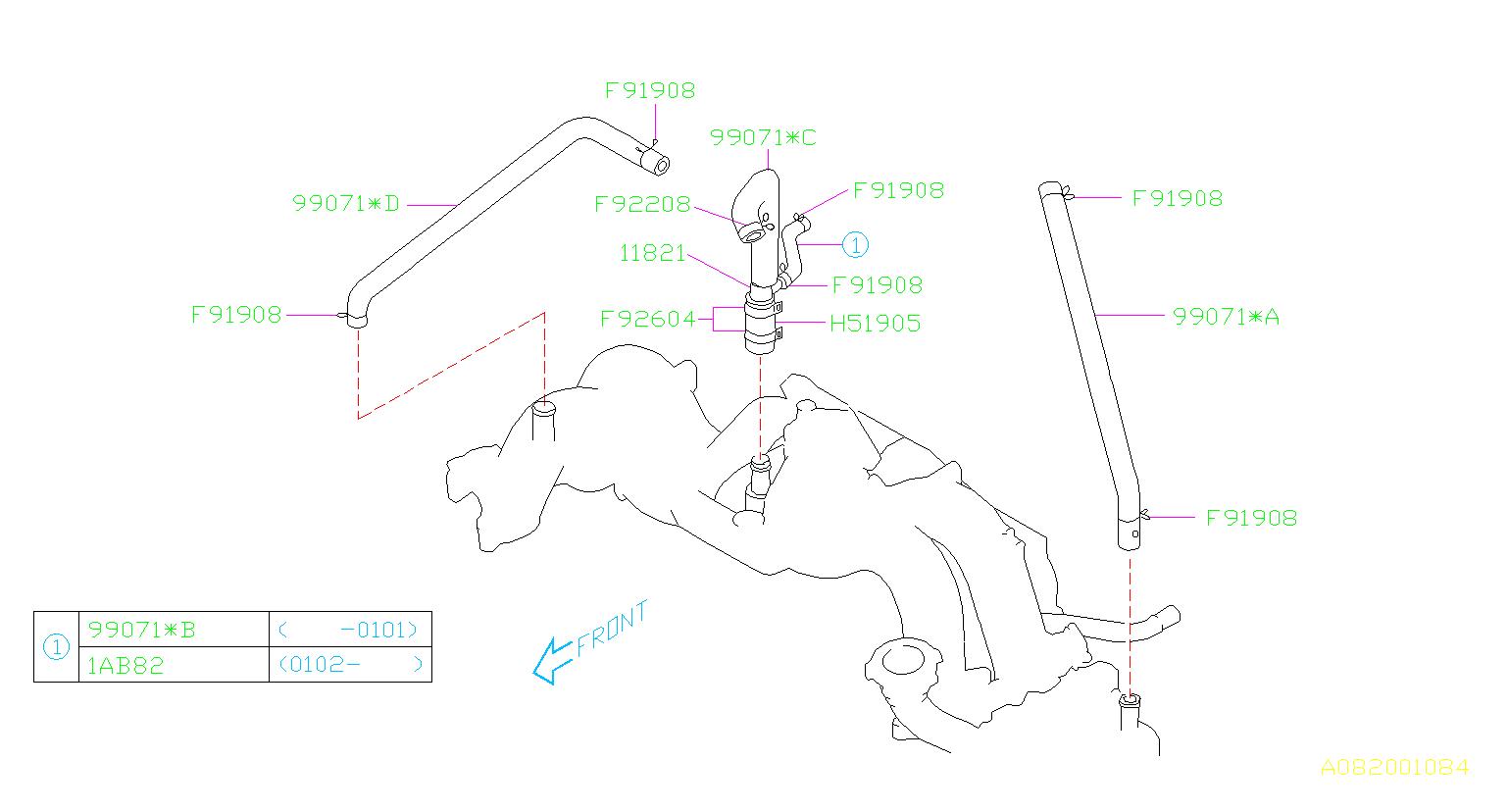 Subaru Forester Hose Diagram