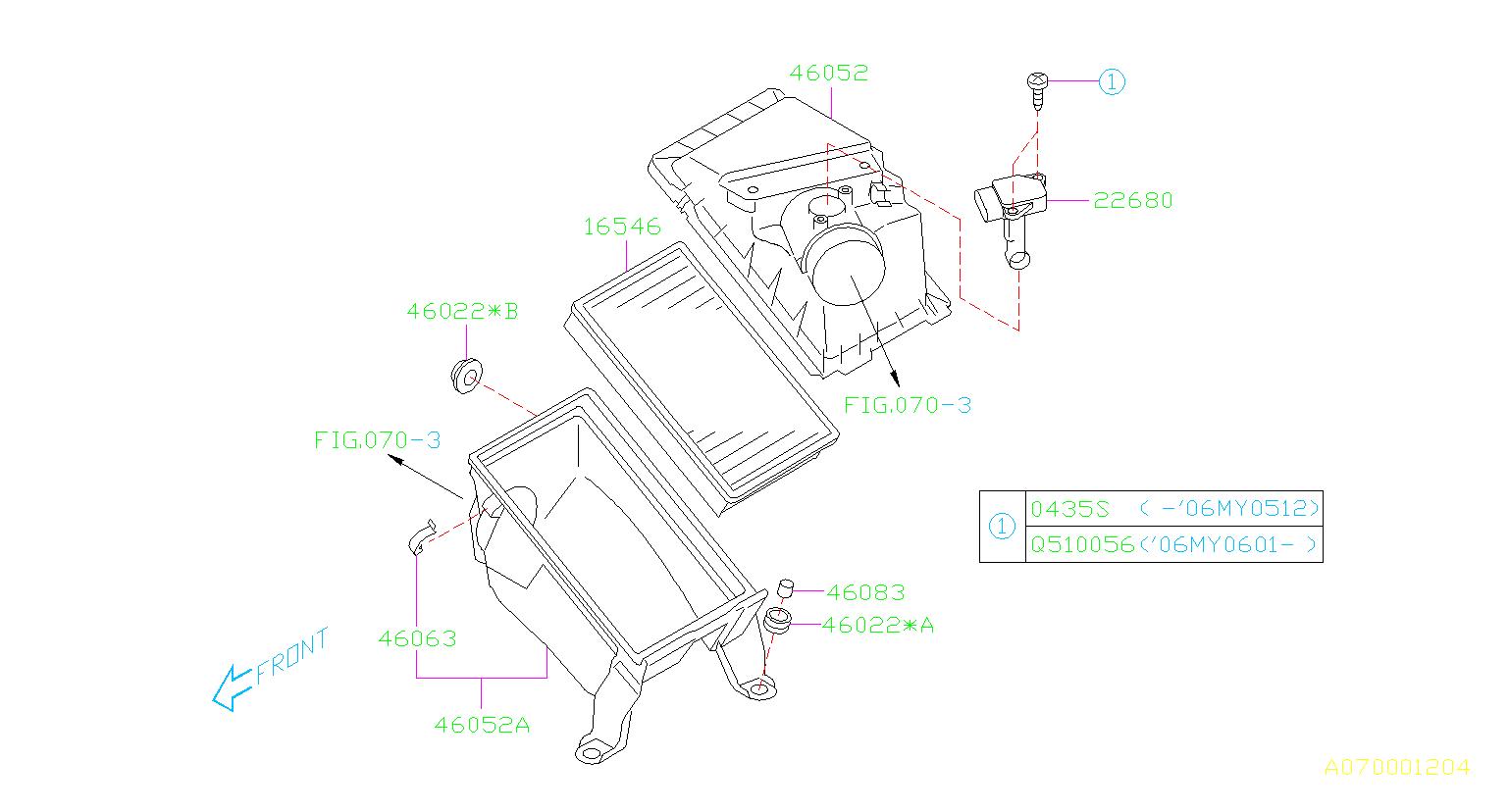 Subaru Forester Mass Air Flow Sensor Bolt
