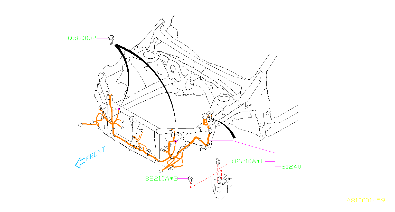 Subaru STI Harness-front. Wiring, main, electrical