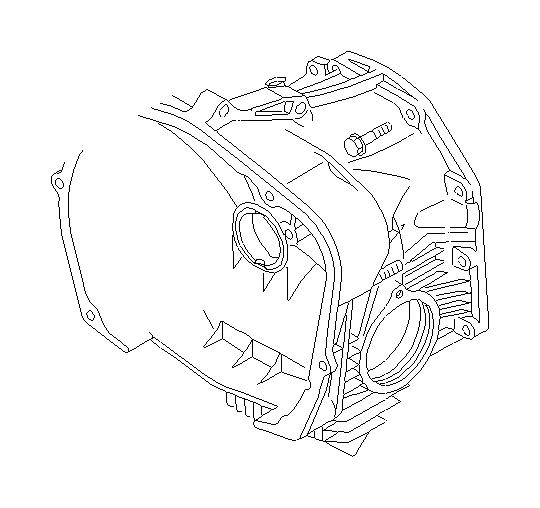 2001 Subaru Forester Pipe-oil drain. Converter, case
