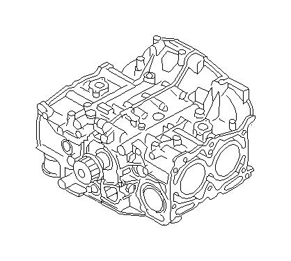 Subaru Forester Short block engine assembly. Gasket, seal