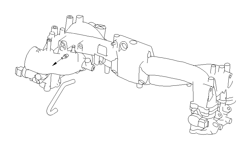 2001 Subaru Legacy 2.5L MT 4WD Outback Wagon Vacuum Line