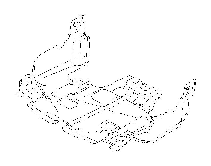 Subaru Outback Radiator Support Splash Shield (Front