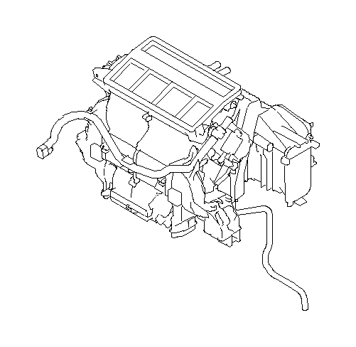 2017 Subaru Outback Heater unit&blower assembly. Manual