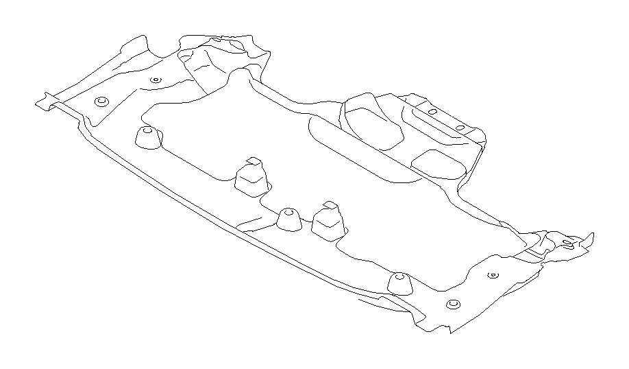 2004 Subaru Impreza Under cover-front. Exhaust, body