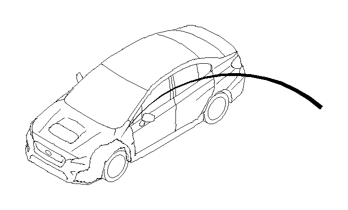 2017 Subaru WRX Fender Liner Support Bracket (Left