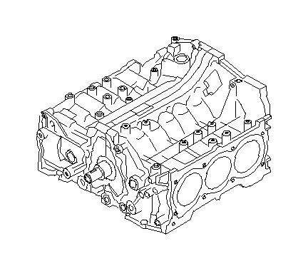 2008 Subaru Outback Short block engine assembly. Seal