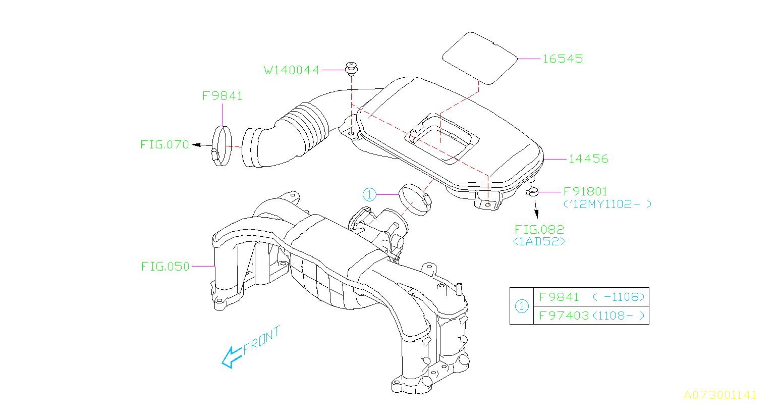 2016 Subaru Engine Air Duct Insulator. Cover Throttle Body