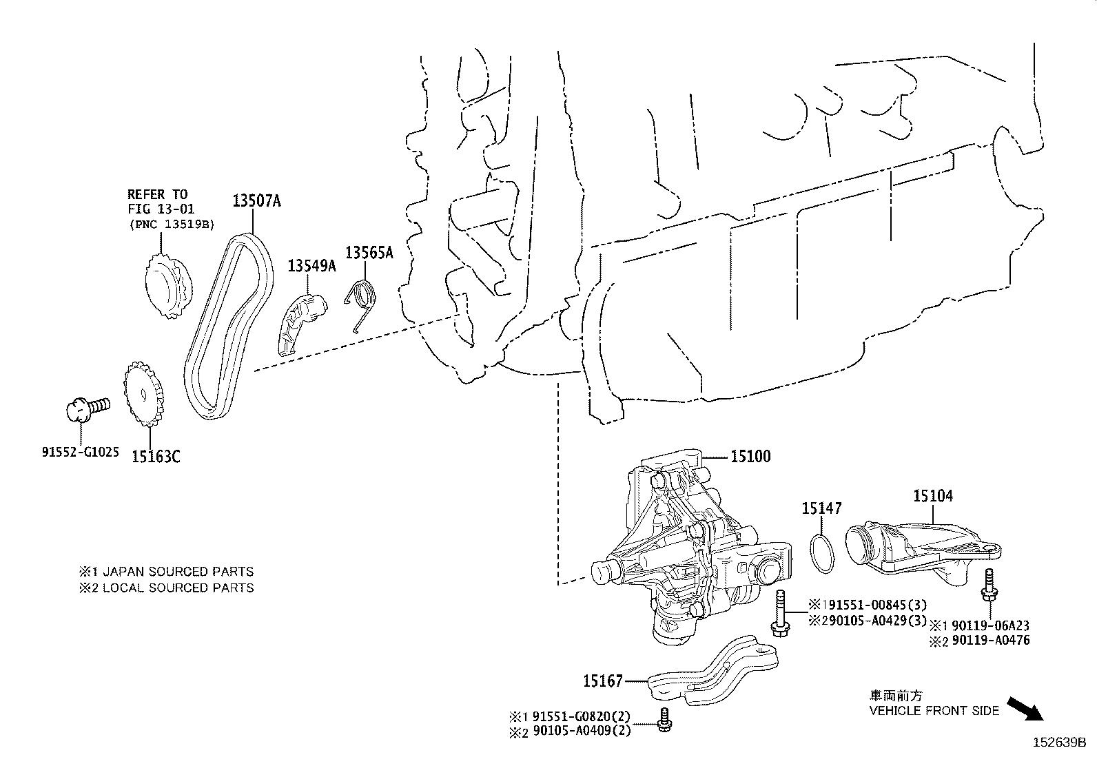 Toyota Camry Bracket Oil Pump Engine