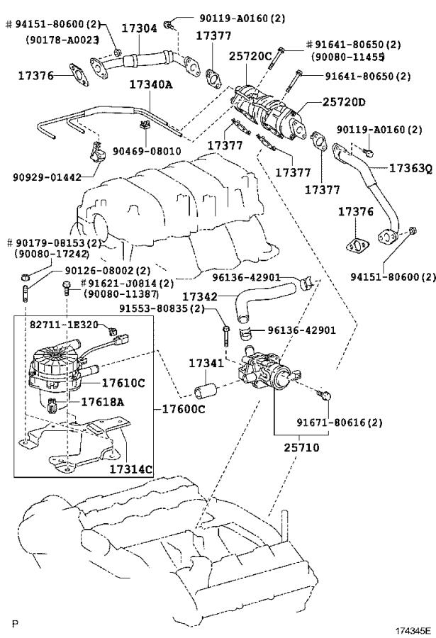Toyota Sequoia Secondary Air Injection Pump Mount