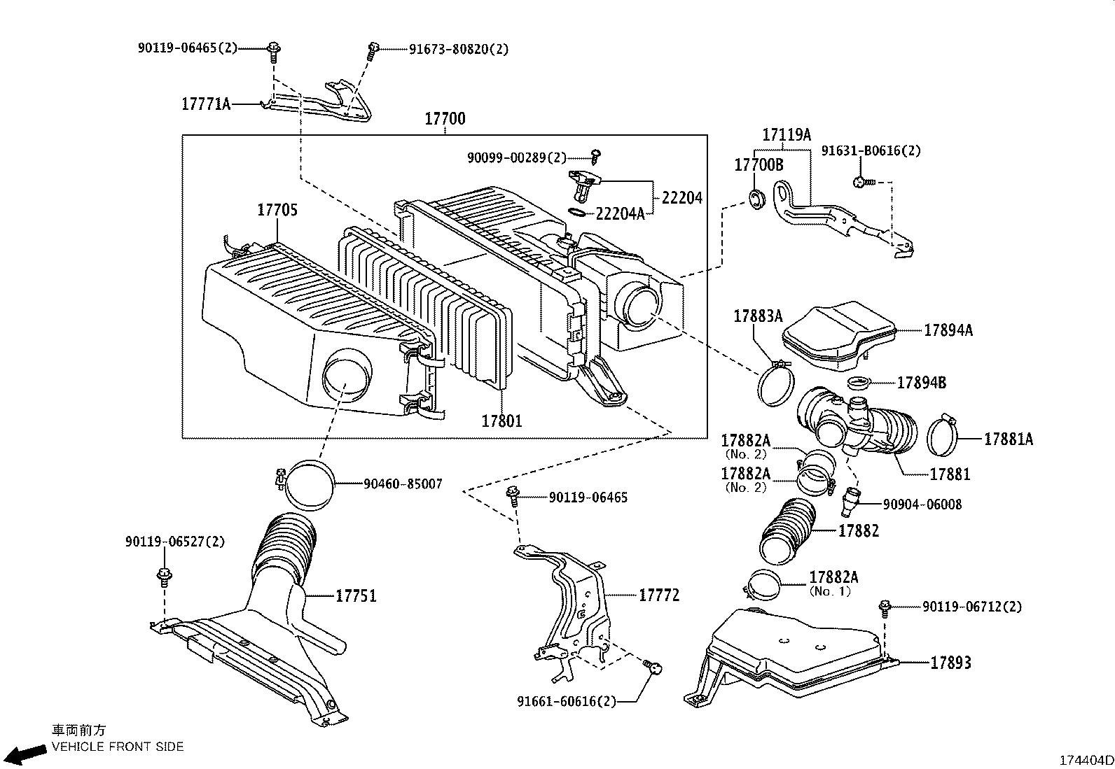 Toyota Highlander Air Filter And Housing