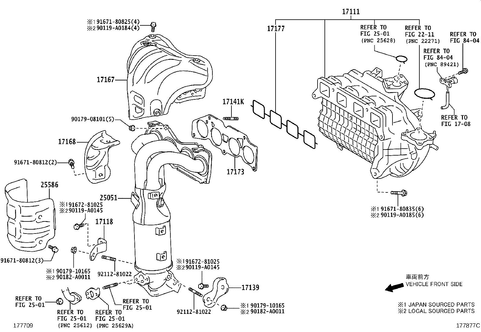 2013 Toyota Avalon Catalytic Converter with Integrated