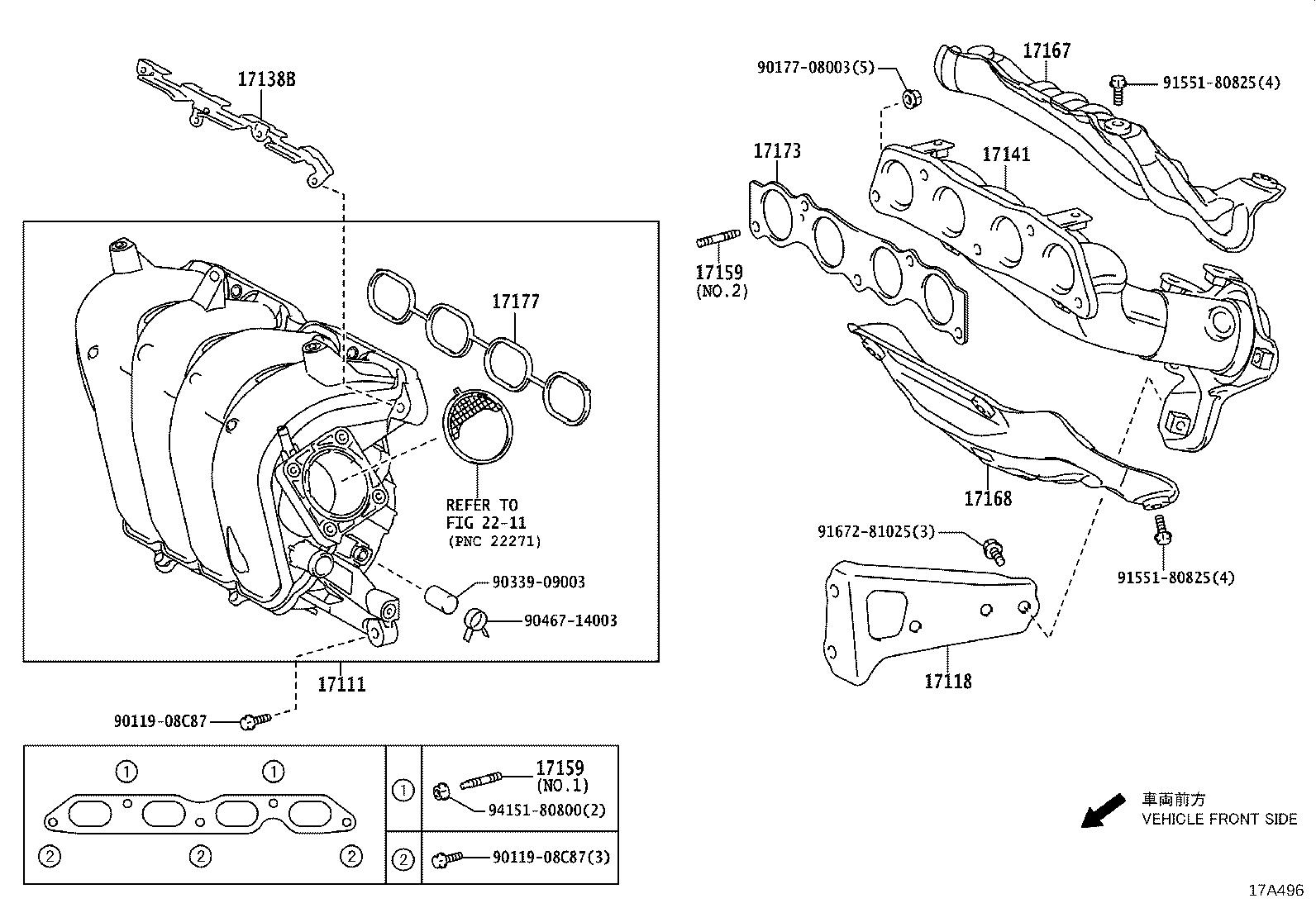 Toyota Corolla Catalytic Converter With Integrated Exhaust