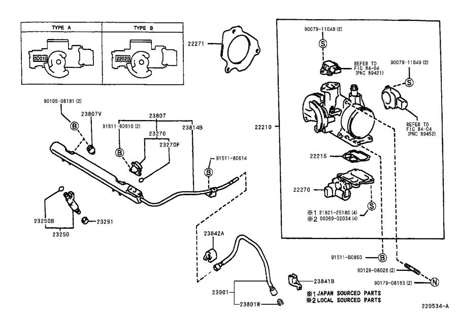 Toyota Corolla Electric Fuel Pump. SYSTEM, Injection