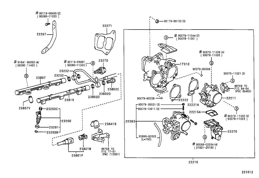 2002 Toyota Sienna Pipe sub-assembly, fuel, no. 1. System