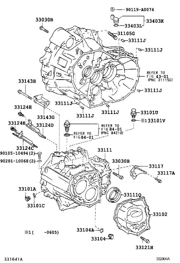 2011 Toyota Camry Case sub-assembly, manual transmission