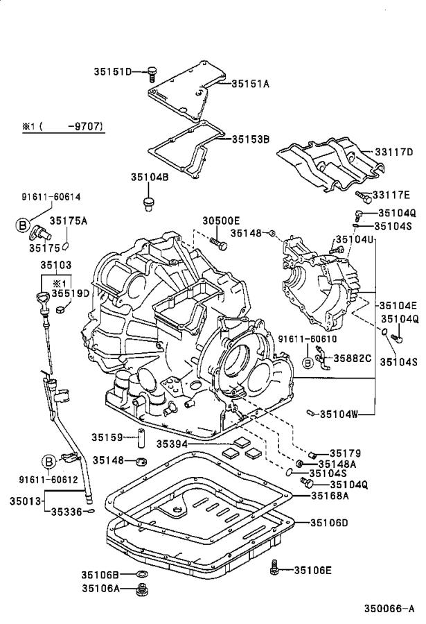 2001 Toyota Camry Gage sub-assembly, transmission oil