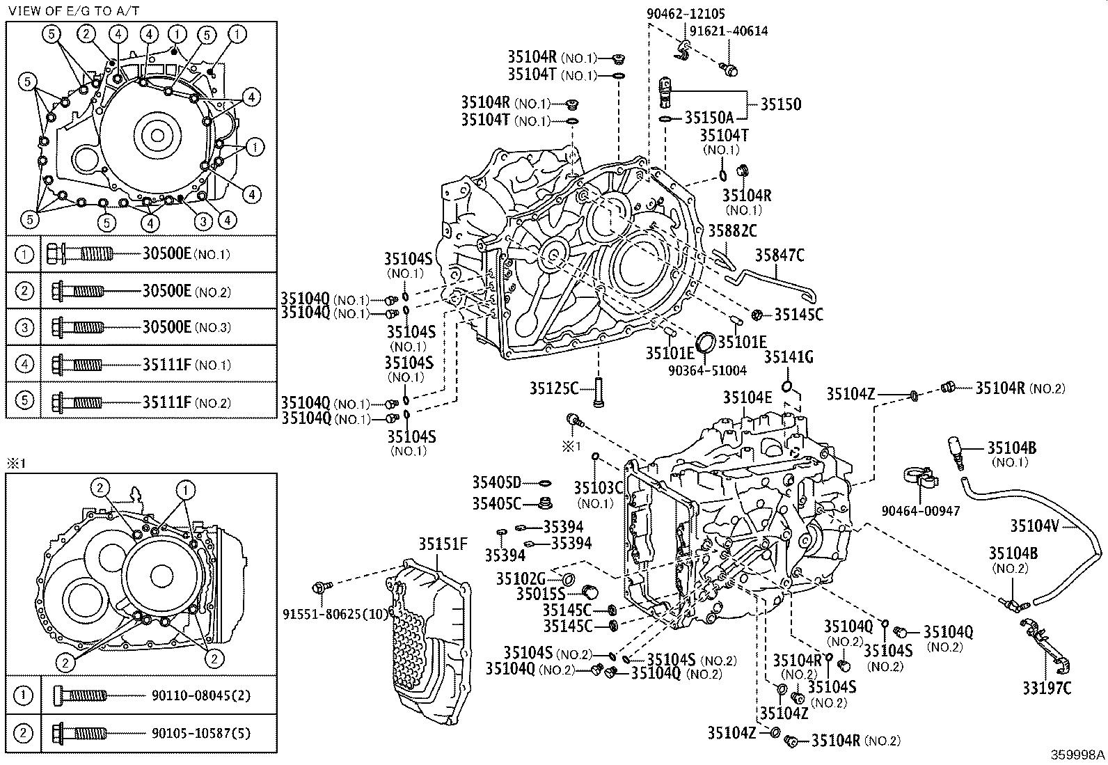 Toyota Camry Case Sub Assembly Automatic Transaxle