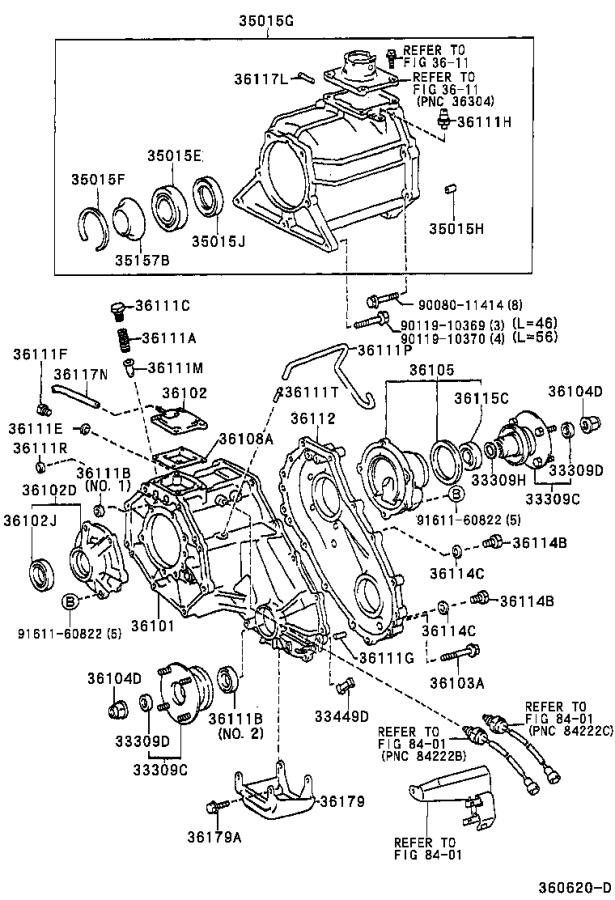 2004 Toyota Sequoia Retainer sub-assembly, transfer right