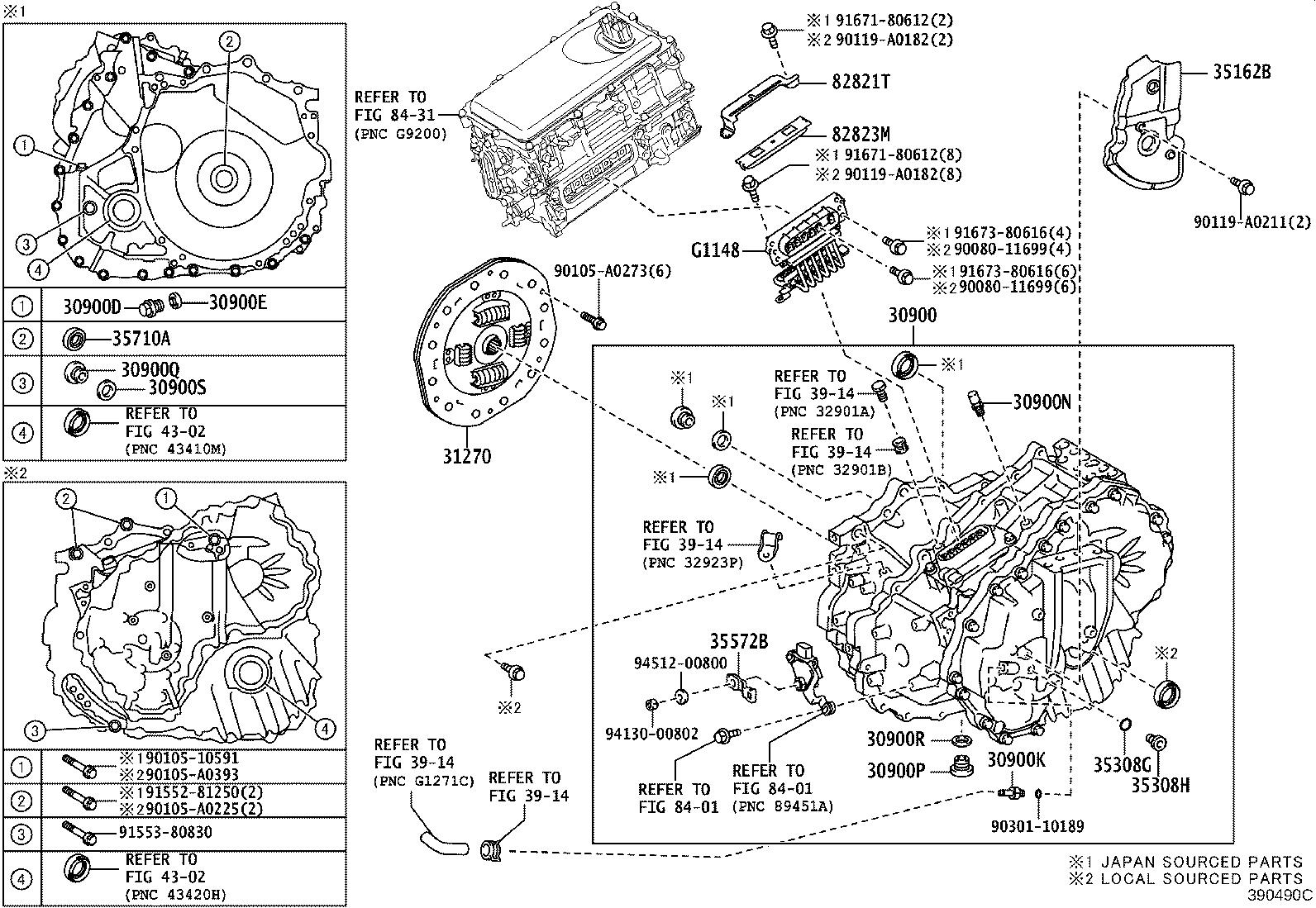 Toyota Camry Drive Motor Inverter Connector Wiring