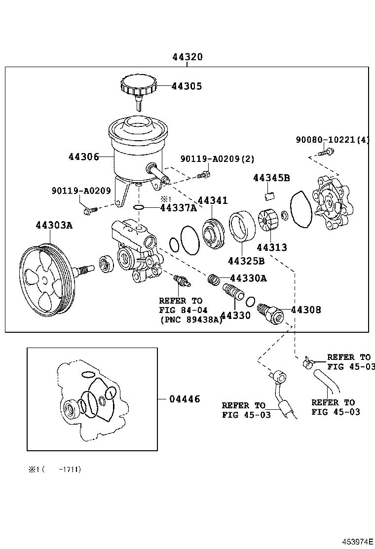 2007 Toyota Tacoma Union sub-assembly, pressure port