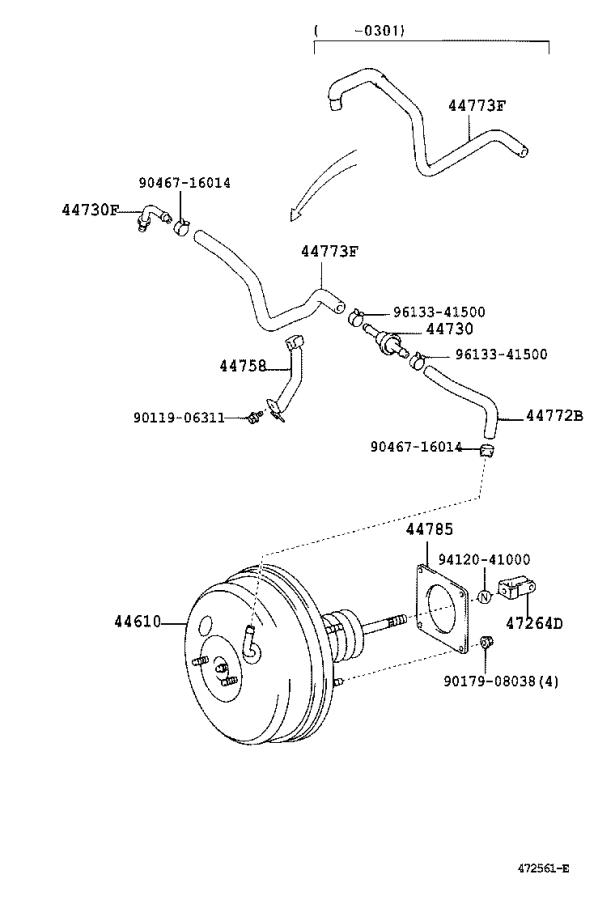 Toyota Camry Power Brake Booster. Brakes, Pedal